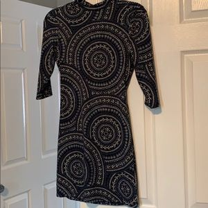 Blue Free People dress with cut outs on the back